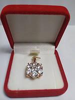 Позолота кулон квітка з кристалів цирконію G29 модні прикраса для дівчат