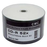 CD-R CMC 700Mb 52x Inkjet Printable (silver)