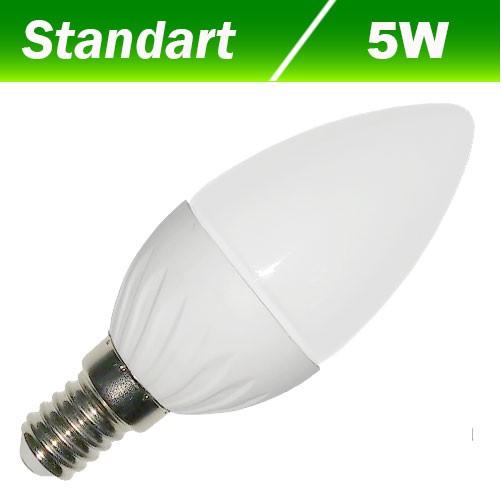 Світлодіодна лампа Biom BG-207 С37 5W E14 3000К