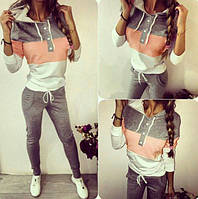 Спортивный костюм женский Colour Pop серый , спортивные костюмы