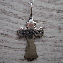 Серебряный крест с распятием, 3 грамма, фото 3