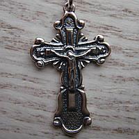 Серебряный крест с распятием, 2,6 грамма
