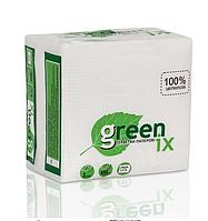 Салфетки белые в прозрачной упаковке 100 шт., 24х24 см. 100% целлюлоза