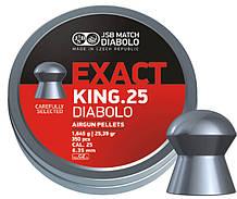 Пули для пневматики JSB Diabolo EXACT KING калибр 6.35мм  1.645 гр 350 шт