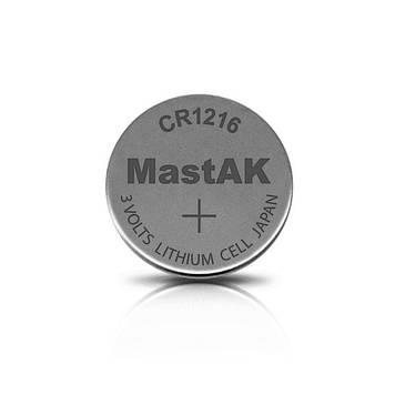 Литиевая батарейка MastAK CR1216 ( 5 штук )