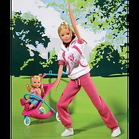 Оригинал. Кукольный набор Steffi и Evi спортивный стиль Штеффи Simba 5733076