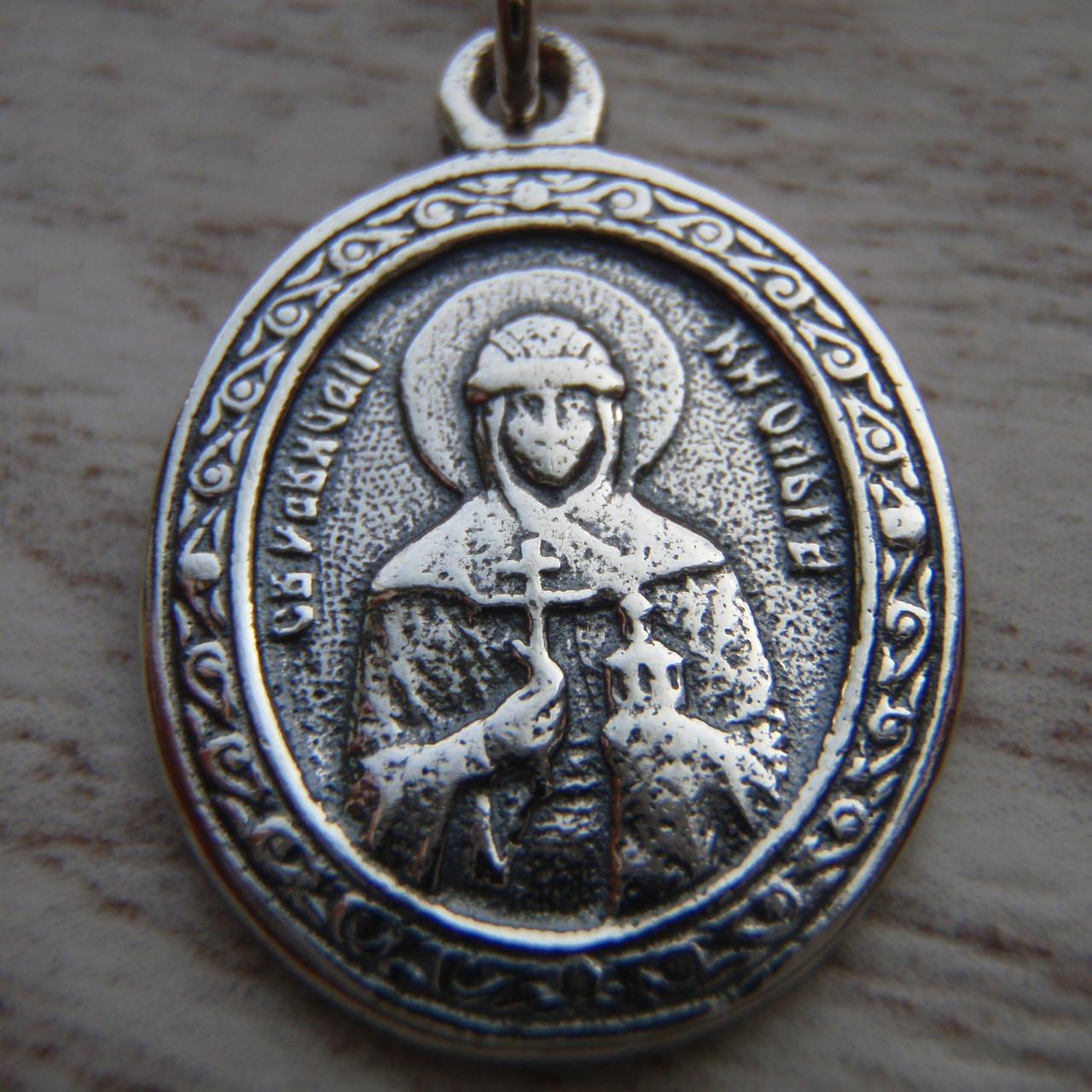 Серебряная подвеска-ладанка Княгиня Ольга