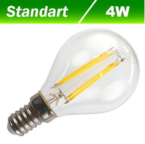 Светодиодная лампа Biom FL-304 G45 4W E14 4500K, фото 2