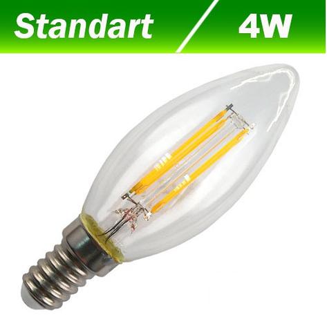 Светодиодная лампа Biom FL-306 С37 4W E14 4500K, фото 2