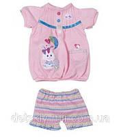 Оригинал. Набор Платье с зайчиком и Шортами для куклы My Little Baby Born Zapf Creation 818084Z