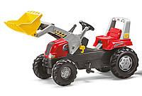 Оригинал. Трактор Педальный с Прицепом и Ковшом Junior Rolly Toys 811397