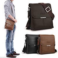Стильная брендовая модная мужская кожаная сумка Polo