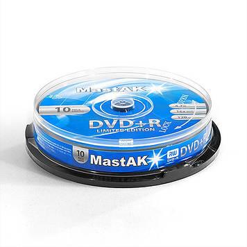 """DVD+R диск MastAK """"Limited Edition"""" ( Box10)"""