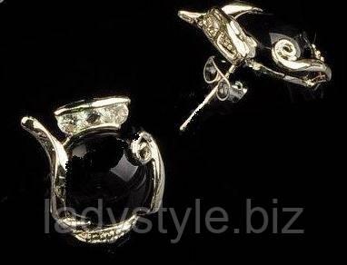 украшения с агатом, агатовые серьги-гвоздики, купить сувенир для девушки