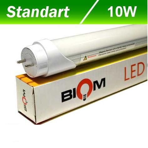 Светодиодная лампа Biom T8-600-10W WW 3500K G13, фото 2