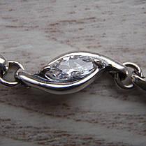 Серебряный женский браслет с фианитами, 205мм, фото 2