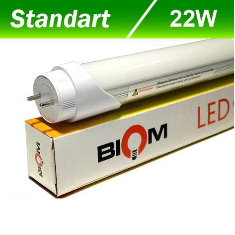 Светодиодная лампа Biom T8-1500-22W CW 6200K G13, фото 2