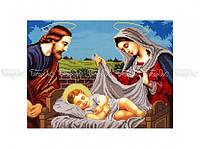 Схема вышивки бисером «Иисус в колыбели» (A3)