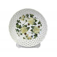 Блюдо фарфоровое фигурное белые розы 09 20,3 см