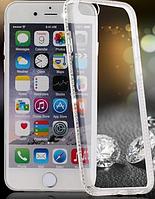 Силиконовый прозрачный чехол с камнями Сваровски для Iphone 6+ , фото 1