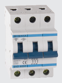 Автоматичний вимикач автомат 10 А ампер трьохфазний трьохполюсний С C характеристика ціна купити Європа