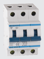 Автоматичний вимикач автомат 10 А ампер трьохфазний трьохполюсний С C характеристика ціна купити Європа, фото 1