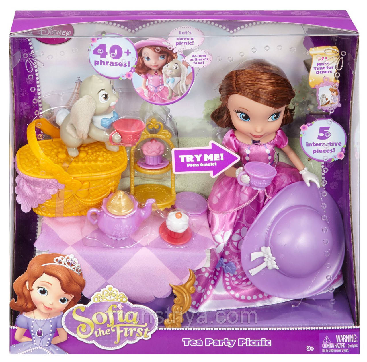 Говорящая кукла принцесса София и кролик Клевер Disney Sofia