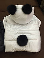 Куртка Детская Зима с Хвостиком и Ушками с кролика