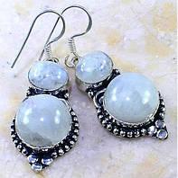 Лунный камень или адуляр. Винтажные серьги