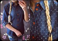 Женская стильная джинсовая  классическая рубашка