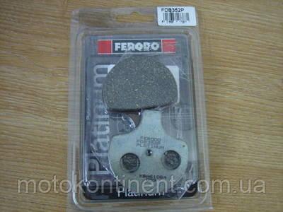 FDB352P Гальмівні колодки Ferodo для мотоцикла HARLEY DAVIDSON 60x63x13mm, фото 2