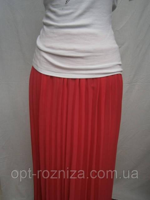 Молодежная длинная плиссированная юбка на резинке
