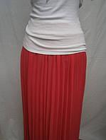 Молодежная длинная плиссированная юбка на резинке, фото 1