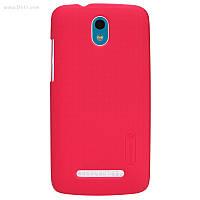 Чехол Nillkin Super Frosted Shield для HTC Desire 500 bright red + защитная плёнка