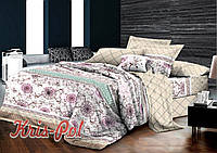 Комплект постельного белья евро 200*220 хлопок  (5177) TM KRISPOL Украина