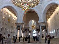 «Белая мечеть» внутри. Эмират Абу-Даби. Фото наших туристов