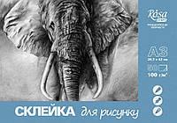 Склейка для рисунку, ROSA START, А3 (29,7х42 см), 100г/м2, 50л., AMBER GRAPHIK