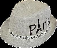 Шляпа детская челентанка вышивка Париж канва