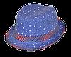Шляпа детская челентанка комби звездное небо