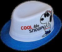 Шляпа детская челентанка фотопринт SNOOPY мальчик