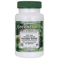 100% Чистейший Максимально Эффективный Экстракт Фукоидана, 500 мг 60 капсул  *