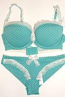Комплект  bra 1427 Mademoiselle бирюза 70D.