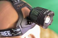 Наголовный фонарик Bailong Police BL-2188B-T6 + 2 аккумулятора Videx 2800mAh