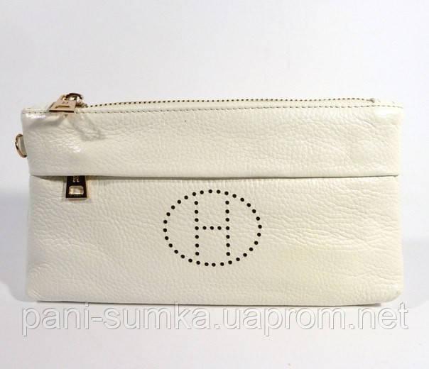 5235b55f25e9 Кошелек-клатч кожаный Hermes 1905 белый, расцветки в наличии, цена 435  грн., купить Белгород-Днестровский — Prom.ua (ID#252756099)