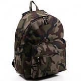 Спортивный городской рюкзак Wallaby с кожаным дном хаки, фото 2