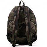 Спортивный городской рюкзак Wallaby с кожаным дном хаки, фото 3