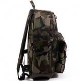 Спортивный городской рюкзак Wallaby с кожаным дном хаки, фото 4