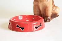 Миска для животных косточка резка.