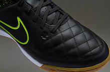Футзалки Nike Tiempo Genio LEATHER IC 631283-007, Найк темпо (Оригинал), фото 3