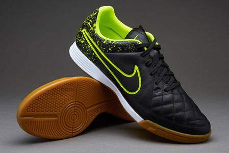 Футзалки Nike Tiempo Genio LEATHER IC 631283-007, Найк темпо (Оригинал), фото 2